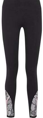 Sàpopa Satellite Mesh-Paneled Stretch Leggings
