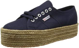 Superga 99z0 2790-Crotopew 933 Women's Shoes Sneakers Wedges, Wedge High, Spring Summer 2016 New Collection Blue Fabric