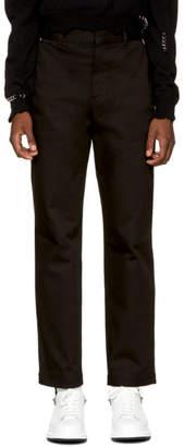 Alexander McQueen Black Twill Trousers