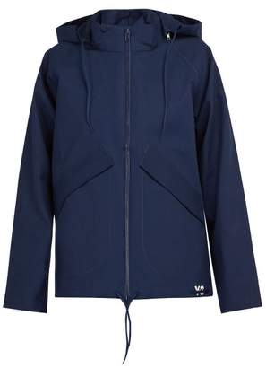 Y-3 Y 3 Hooded Technical Cotton Jacket - Mens - Navy