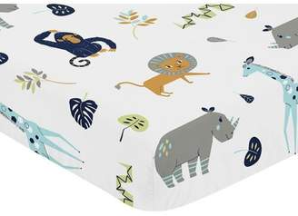 JoJo Designs Sweet Mod Jungle Fitted Crib Sheet