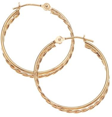 14k Gold Double Tube Hoops