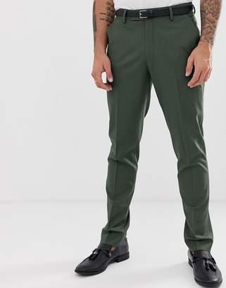 Asos Design DESIGN skinny suit trousers in khaki