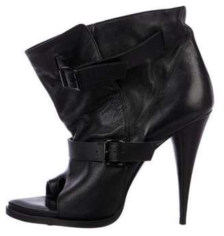 Givenchy Leather Peep-Toe Ankle Boots