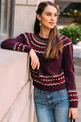 francesca's Jimena Fair Isle Sweater - Purple