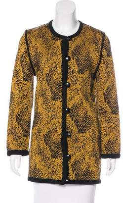 Givenchy Vintage Patterned Wool-Blend Cardigan