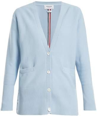 Thom Browne Striped intarsia-knit cardigan