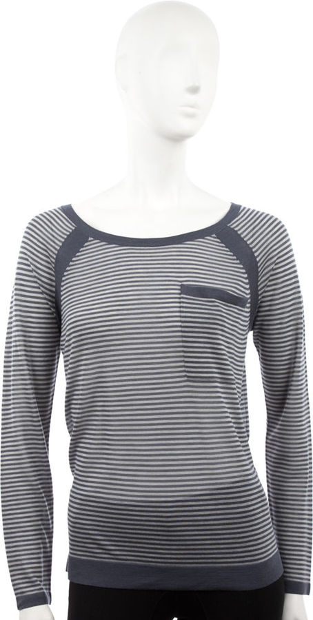 Rag & Bone Smith Striped Sweater - Light Grey