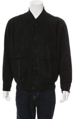 Luciano Barbera Suede Bomber Jacket