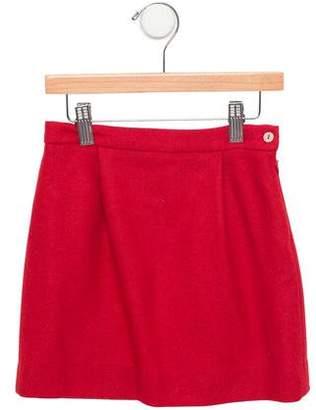 Papo d'Anjo Girls' Wool Pleated Skirt
