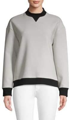 Derek Lam 10 Crosby Contrast-Trim Crewneck Sweatshirt