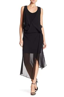 Maac London Radar Chiffon Drape Dress