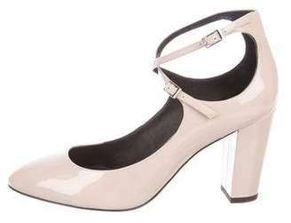 Giuseppe Zanotti Ankle-Strap Patent Leather Pumps
