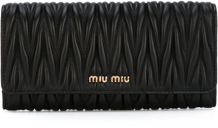 Miu MiuMiu Miu matelassé foldover wallet