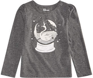 Epic Threads Little Girls Long-Sleeve Snow Globe T-Shirt