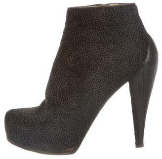 3.1 Phillip Lim Ponyhair Round-Toe Ankle Boots