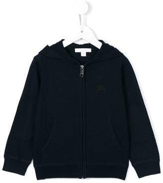 Burberry check elbow patch hoodie