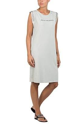 Replay Women's W9413 .000.22038g Dress, (Light Grey 413), Large