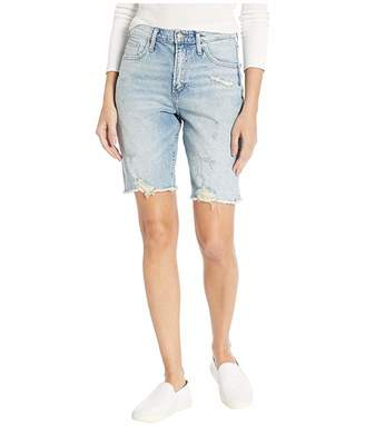 Silver Jeans Co. Frisco High-Rise Knee Shorts in Indigo L54608RCS264
