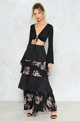 Nasty Gal Put Me in the Mix Maxi Skirt