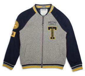 True Religion Toddler's & Little Boy's Fleece Letterman Jacket $119 thestylecure.com