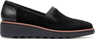 ab302f9ff05 Clarks Suede Slip-On Loafers - Sharon Dolly