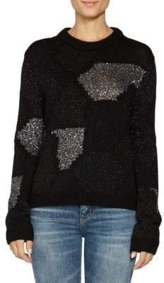 Saint Laurent Metallic Patchwork Sweater
