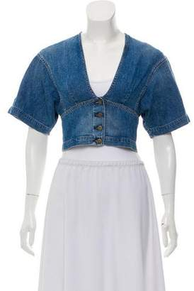 Atelier Jean Chambray Crop Top