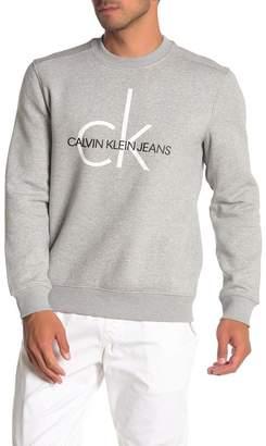 Calvin Klein Heritage Logo Crew Neck Fleece Sweater