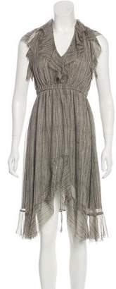 L'Agence Printed Silk Dress