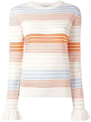 Stella McCartney ruffled cuff jumper
