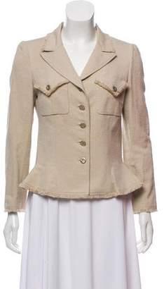 Chanel Silk Fringe-Trimmed Blazer