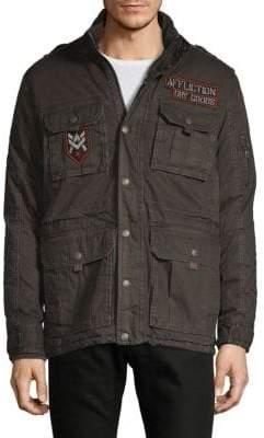 Affliction Patched Cotton Jacket
