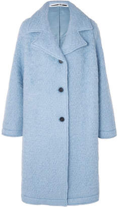 McQ Oversized Wool-blend Bouclé Coat - Sky blue