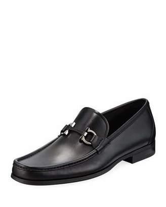 Salvatore Ferragamo Men's Gancini-Bit Leather Moccasin Loafer