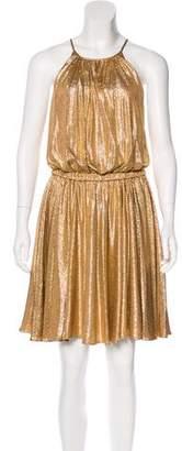Halston Metallic Knee-Length Dress w/ Tags