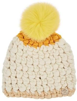 Mischa Lampert Women's Deep Colorblocked Merino Wool Beanie