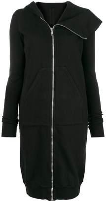 Rick Owens long zip front hoodie