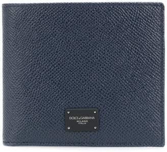 Dolce & Gabbana logo plaque billfold wallet