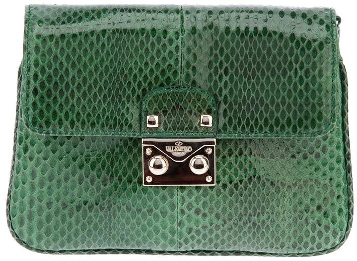 Valentino Garavani snakeskin effect clutch
