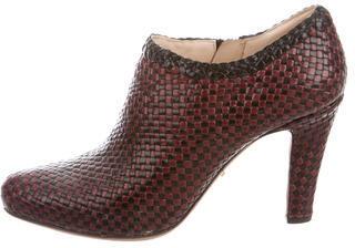 pradaPrada Woven Leather Booties
