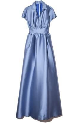 Lela Rose Duchess Satin Full Gown in Powder Blue