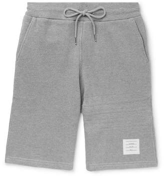 Thom Browne Honeycomb Cotton Shorts - Men - Gray