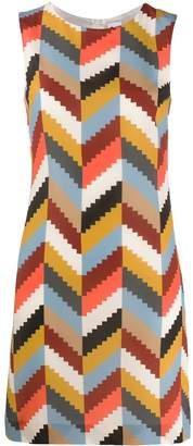 M Missoni geometric silk dress