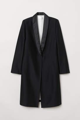 H&M Long Wool-blend Jacket - Black