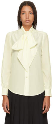 Marc Jacobs Ivory Silk Pussy Bow Shirt