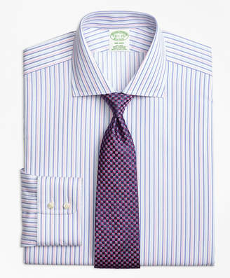 Brooks Brothers Milano Slim-Fit Dress Shirt, Non-Iron Alternating Twin Stripe