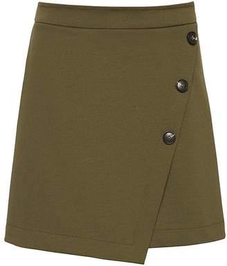Banana Republic Wrap-Front Mini Skirt