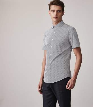 Reiss Trident Slim Fit Printed Shirt