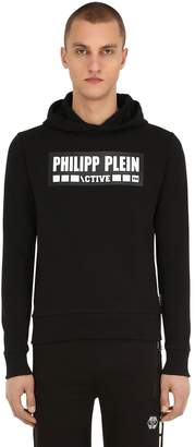 Philipp Plein Printed Cotton Blend Sweatshirt Hoodie